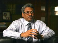 Sri Lanka's defence secretary Gotabaya Rajapaksa