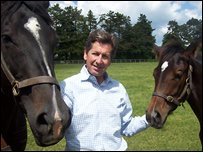 John Warren with some of his horses