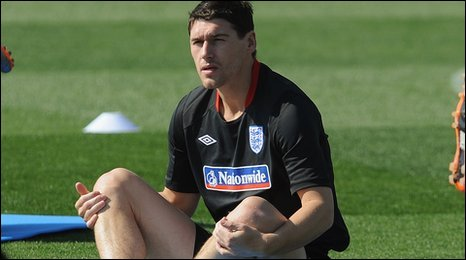 England midfielder Gareth Barry