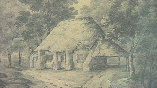 Artist illustration of the Quaker Meeting House