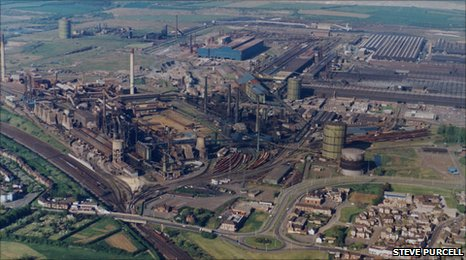 Ariel view of the Corby Steelworks
