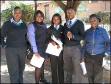 Learners at Phefani Secondary High School in Soweto