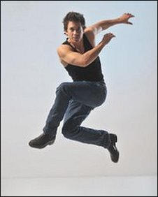 Adam Garcia star of Tap Dogs