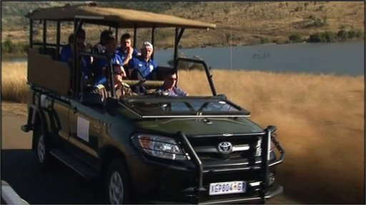 England players on safari