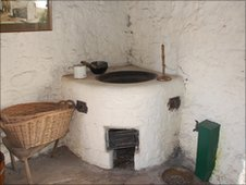 Interior of wash-house at JM Barrie's Birthplace Museum in Kirriemuir (image permission given by NTS)