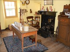 Kitchen area in Barrie's Birthplace Museum (image permission courtesy of NTS)