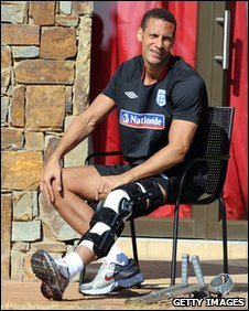 England's injured skipper Rio Ferdinand
