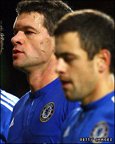 Michael Ballack (left) and Joe Cole