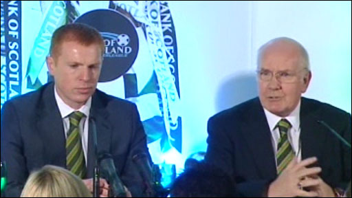 Celtic manager Neil Lennon and chairman John Reid