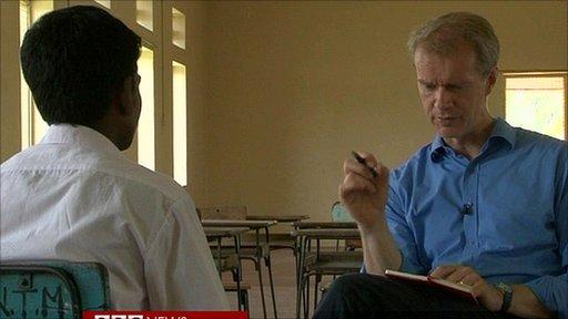 Stephen Sackur talks to a former child soldier in Sri Lanka