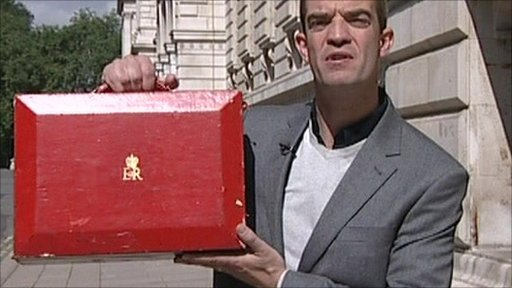 Giles Dilnot with a Red Box