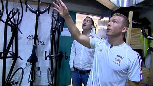 Steve Parry and Chris Hoy