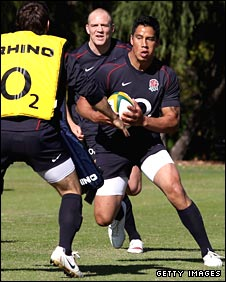 Shontayne Hape in training for England