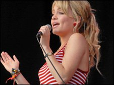 Singer Duffy at Glastonbury 2008
