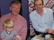 Tim, Charlie and BBC Lincolnshire presenter William Wright