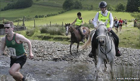 Man v horses in last year's race