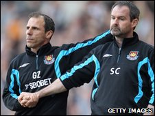 Gianfranco Zola and Steve Clarke