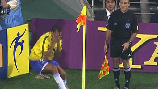 Rivaldo's controversial dive in 2002
