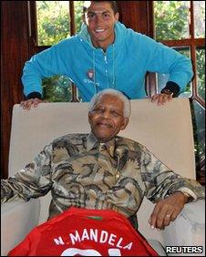 Ronaldo and Nelson Mandela