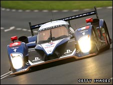 Britain's Anthony Davidson in the Peugeot 908 at Le Mans