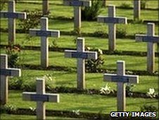 World War I graves in France
