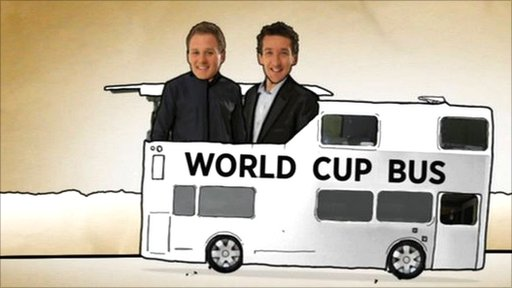 Dan and Rob Walker on the BBC bus