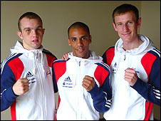 Iain Weaver, Khalid Yafai and Tom Stalker