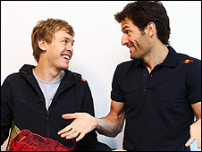 Sebastian Vettel (left) and Mark Webber