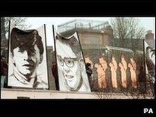 Portraits of some of the Bloody Sunday victims