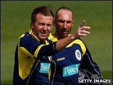 Dominic Cork and Nic Pothas