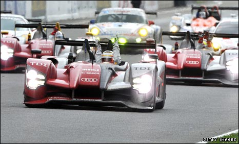 Audi's winning trio of cars at Le Mans