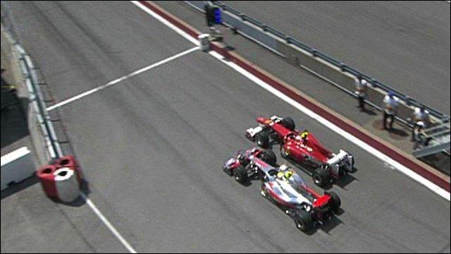 McLaren's Lewis Hamilton and Ferrari's Fernando Alonso