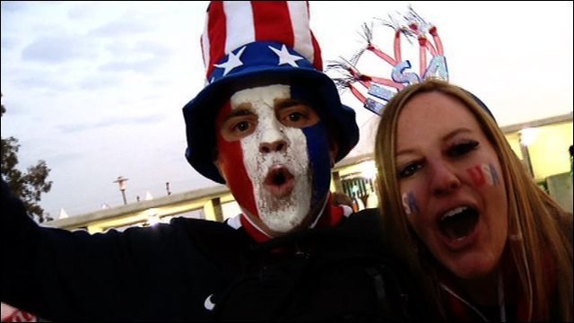 USA fans enjoy England game
