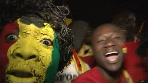 Ghana fans in Pretoria