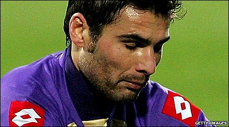 Fiorentina's Romanian international Adrian Mutu