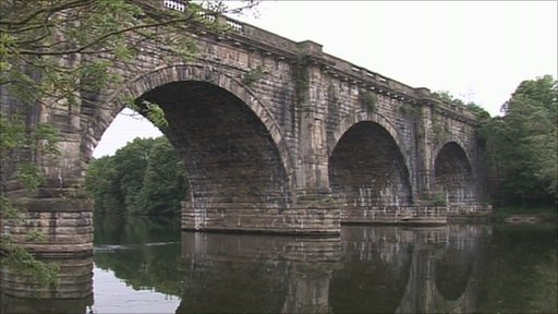 The Lune Aqueduct in Lancaster