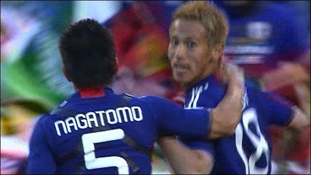 Honda scores for Japan