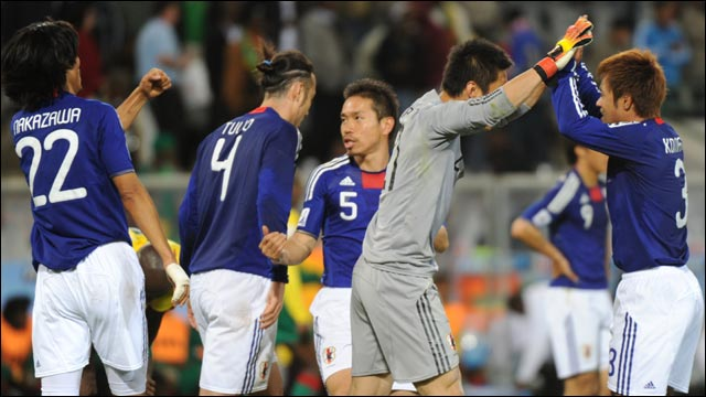 Highlights from Japan's 1-0 victory over Cameroon in Group E at the 2010 World Cup