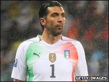 Italy goalkeeper Gianluigi Buffon