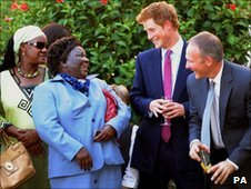 Prince Harry in Botswana