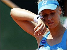 Elena Dementieva at the French Open