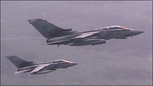 Two Tornadoes from RAF Marham