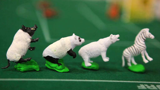 Animals used in the animation of South Africa's opening goal