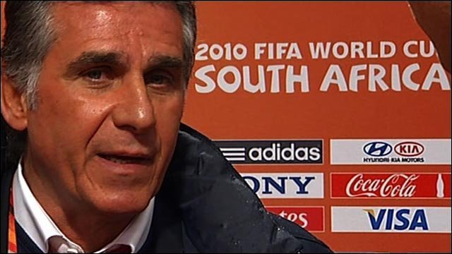 Portugal coach Carlos Quieroz