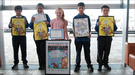 Newport children with their Gypsy event posters