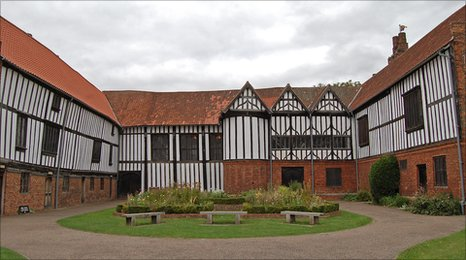 Gainsborough Old Hall, the setting for the Time Traveller film