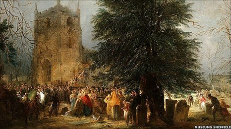 The Burial of Sir Francis Chantrey in Norton Churchyard (1841) by Perlee Parker