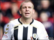 St Mirren midfielder Garry Brady