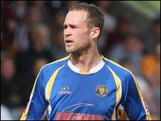 Peterborough United striker Dave Hibbert