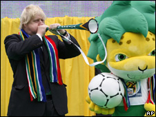 Boris Johnson in South Africa